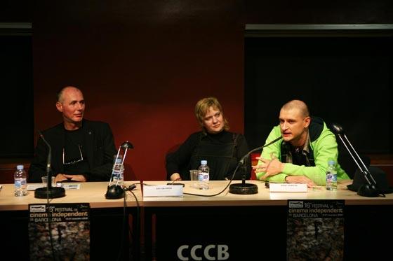 H. Barna, A. Solomon, M. Chirilov mesa redonda cine rumano